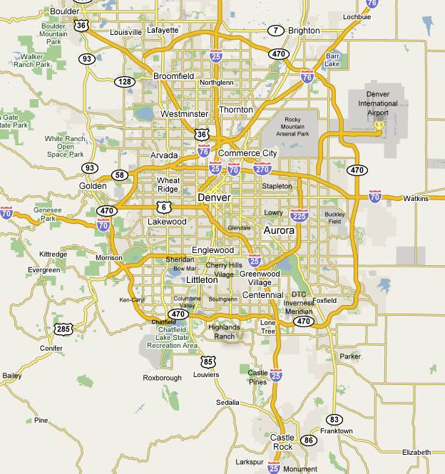 Map Of Denver Metro Area Denver, Lakewood, Golden, Arvada  we move all of metro Denver