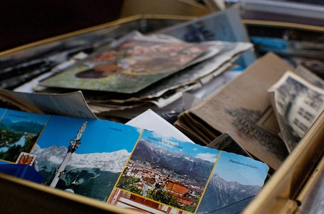box of pictures of memories