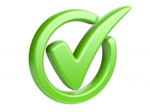 Green Checkmark choose right moving company