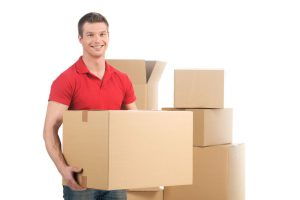 Moving Company Mover Carrying Right Size Boxes Not To Heavy