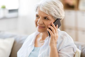 elderly woman moving calling movers